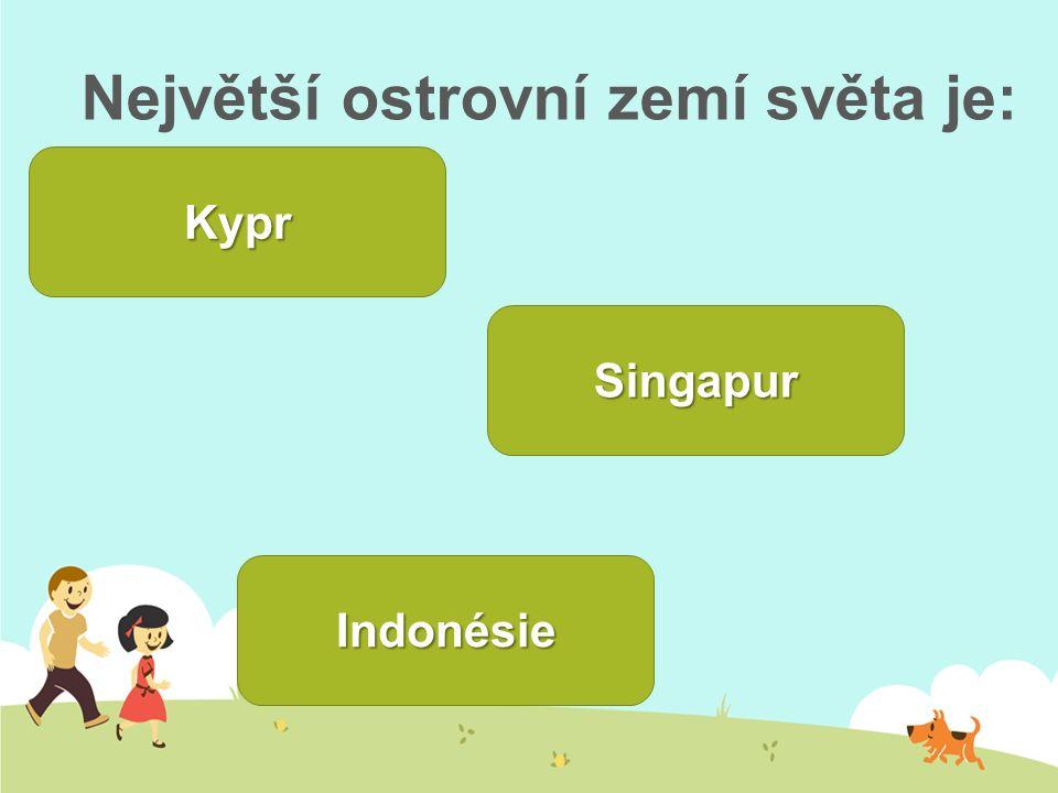 Největší ostrovní zemí světa je: