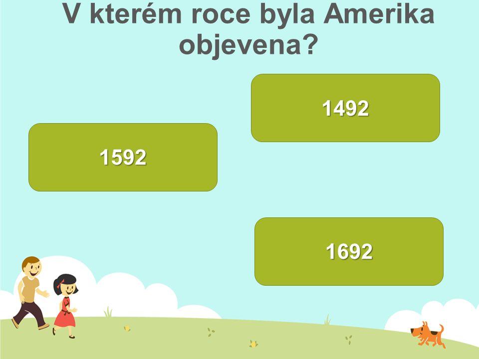 V kterém roce byla Amerika objevena