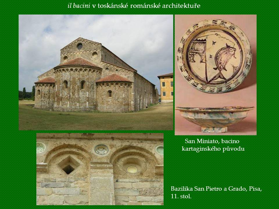 il bacini v toskánské románské architektuře