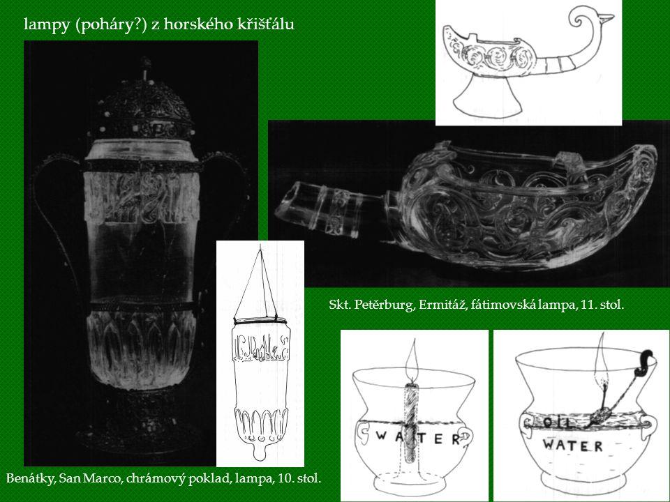 lampy (poháry ) z horského křišťálu