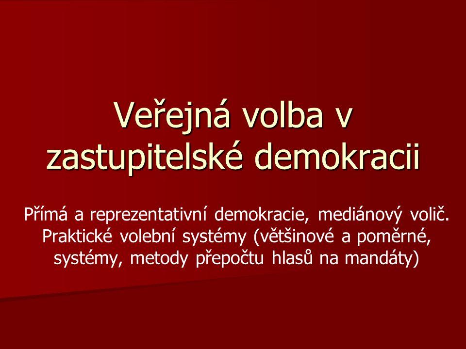 Veřejná volba v zastupitelské demokracii