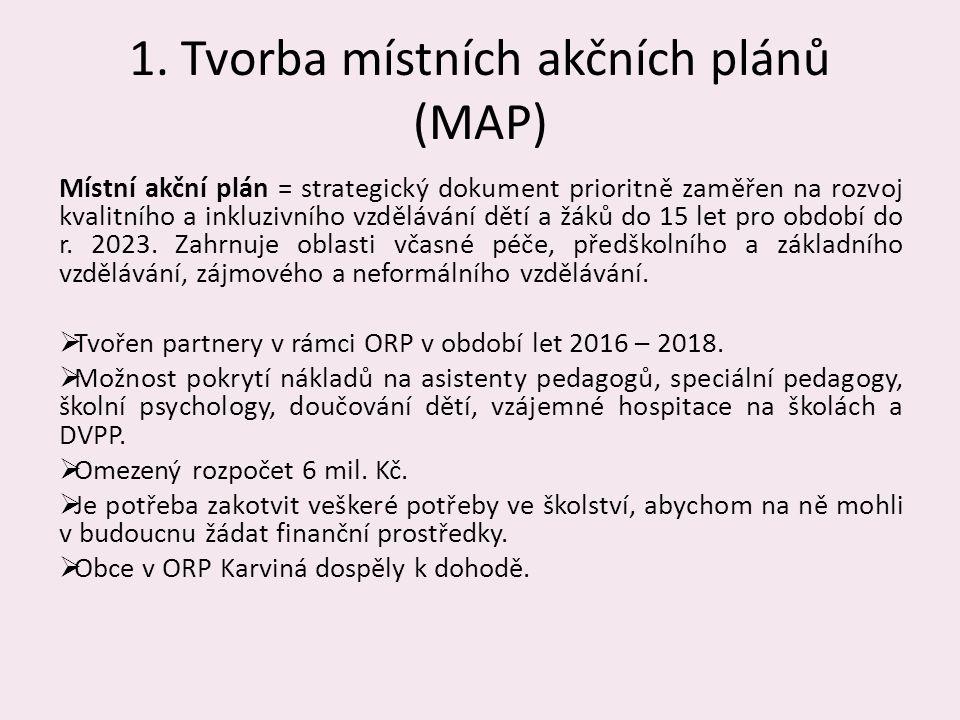 1. Tvorba místních akčních plánů (MAP)