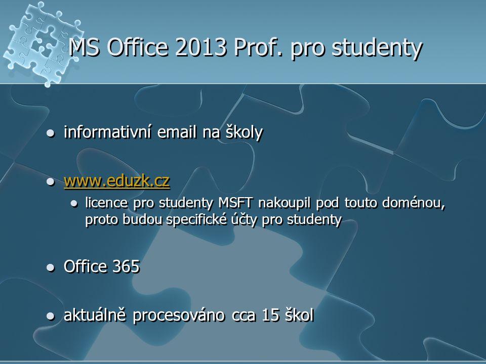 MS Office 2013 Prof. pro studenty