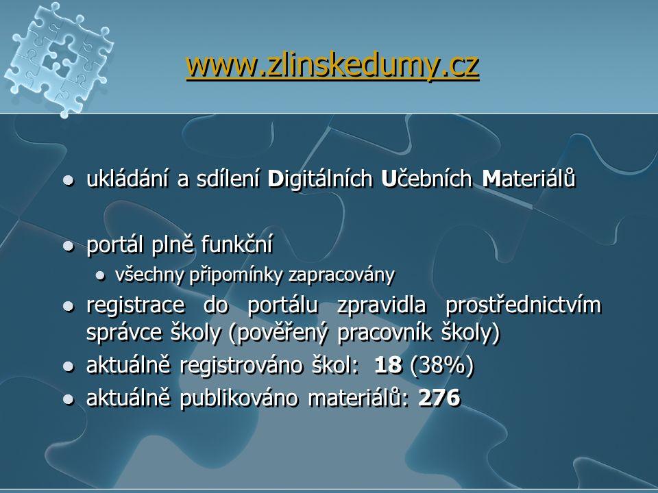 www.zlinskedumy.cz ukládání a sdílení Digitálních Učebních Materiálů