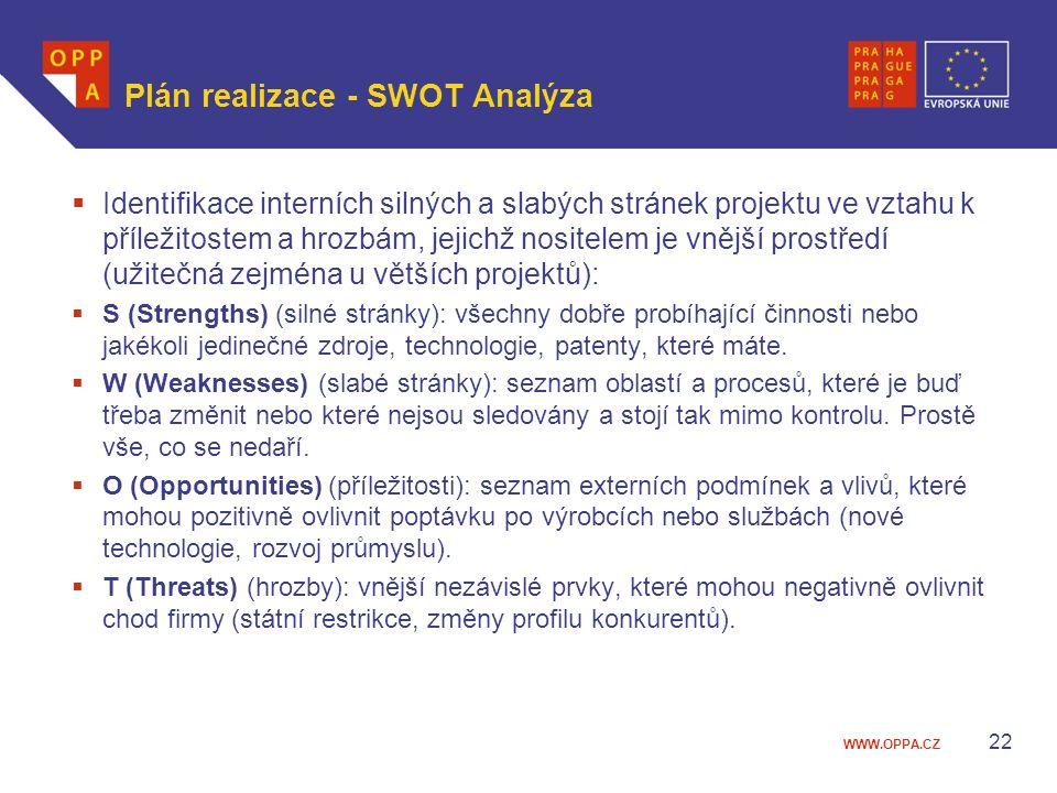 Plán realizace - SWOT Analýza