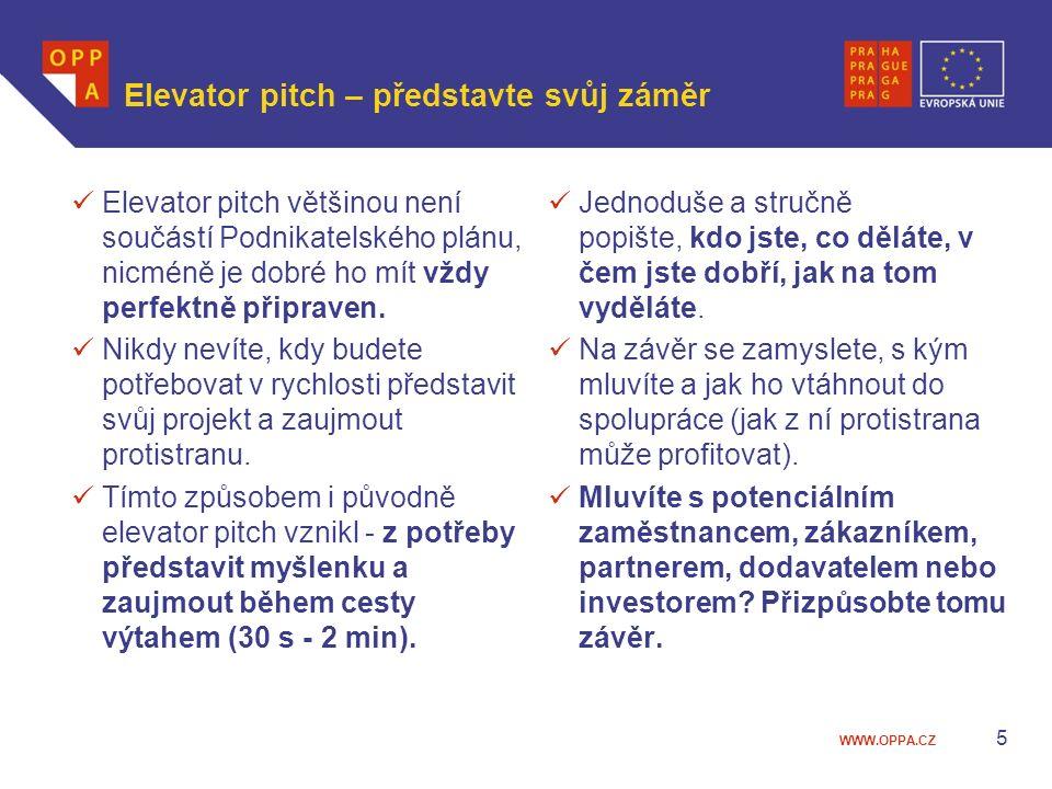 Elevator pitch – představte svůj záměr