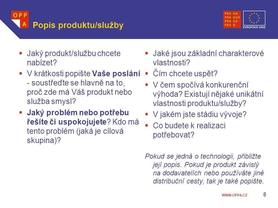 Popis produktu/služby