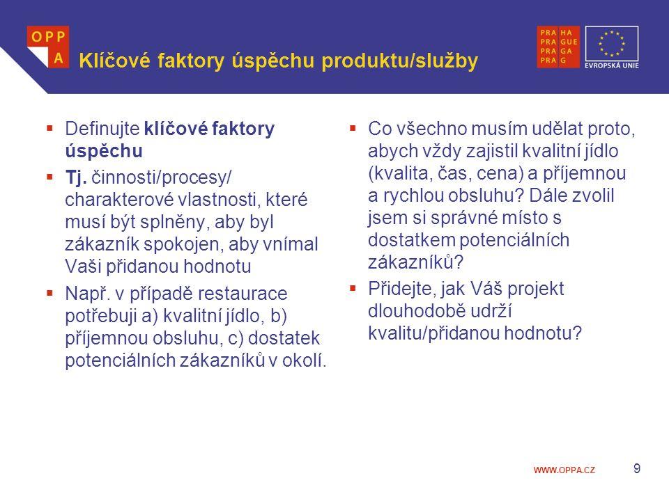 Klíčové faktory úspěchu produktu/služby