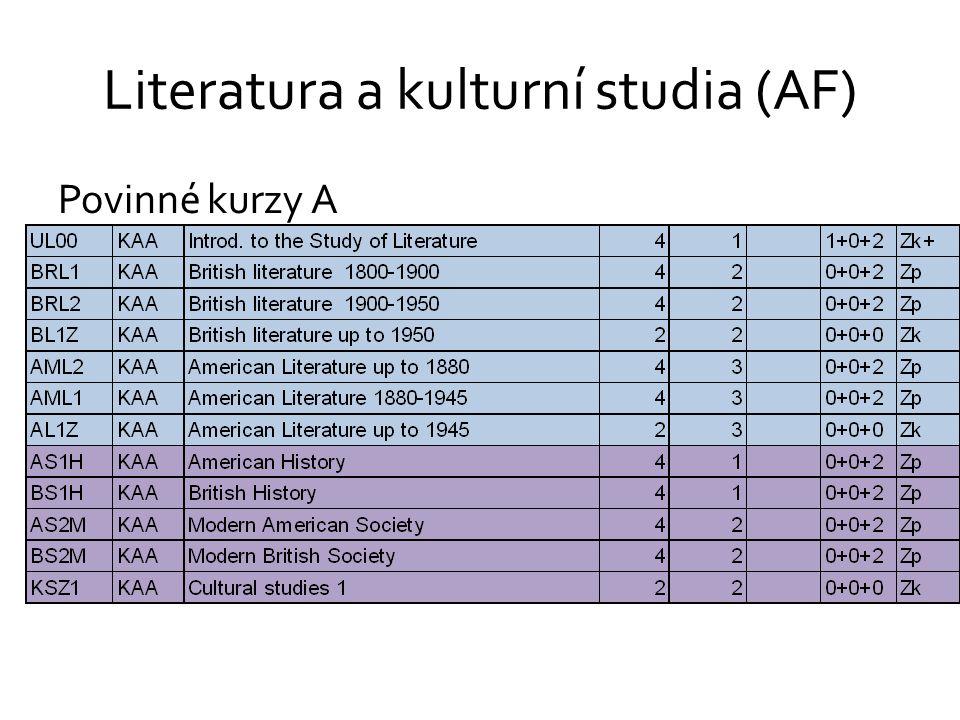 Literatura a kulturní studia (AF)