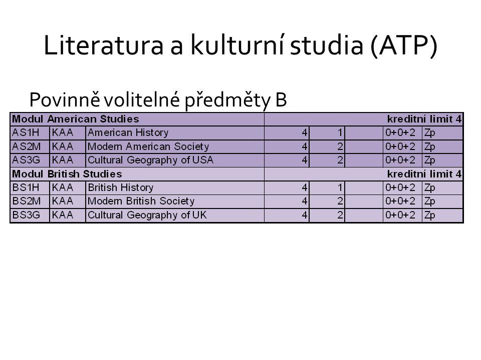 Literatura a kulturní studia (ATP)