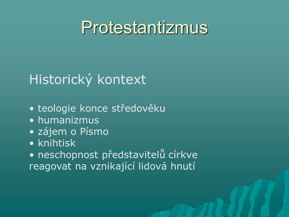Protestantizmus Historický kontext teologie konce středověku