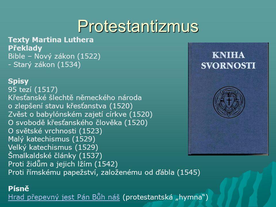Protestantizmus Texty Martina Luthera Překlady