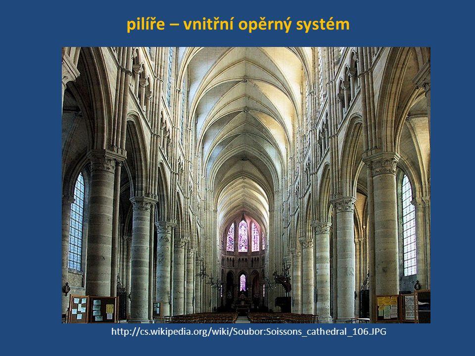 pilíře – vnitřní opěrný systém