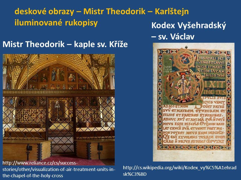 deskové obrazy – Mistr Theodorik – Karlštejn iluminované rukopisy