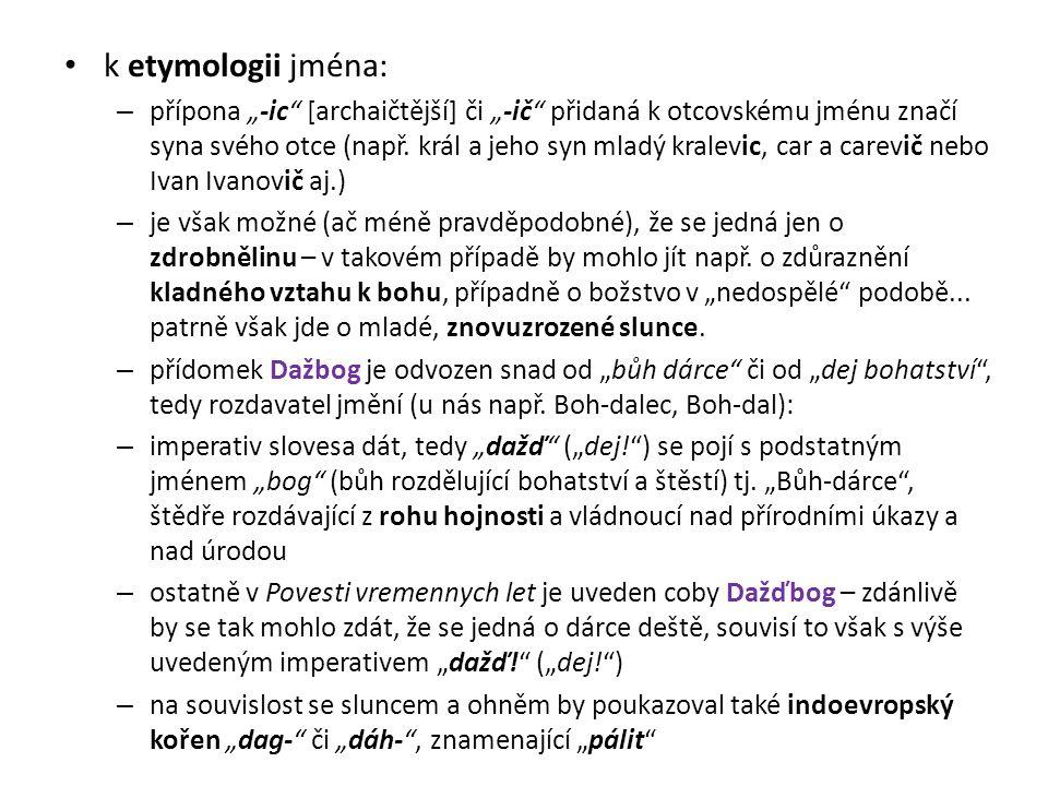 k etymologii jména: