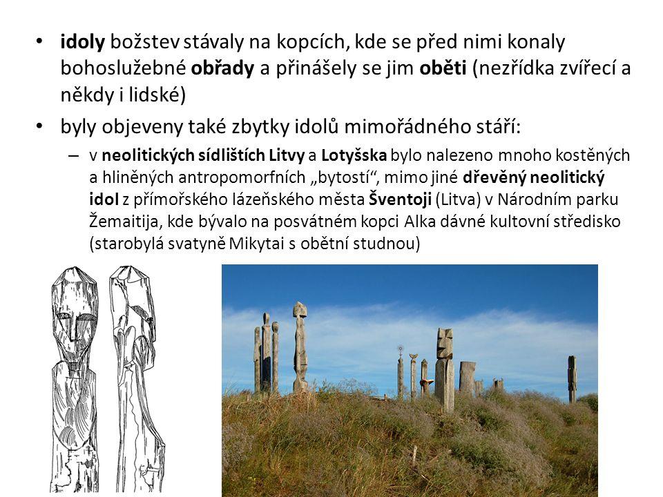 byly objeveny také zbytky idolů mimořádného stáří:
