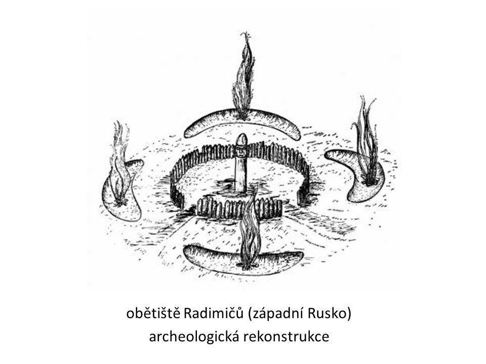 obětiště Radimičů (západní Rusko) archeologická rekonstrukce