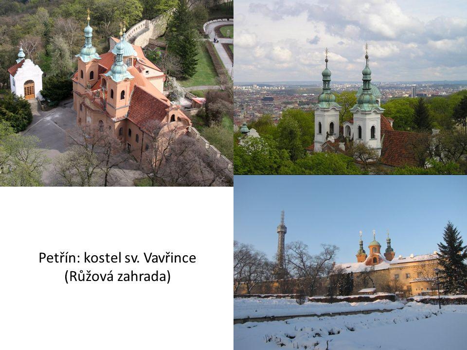 Petřín: kostel sv. Vavřince (Růžová zahrada)