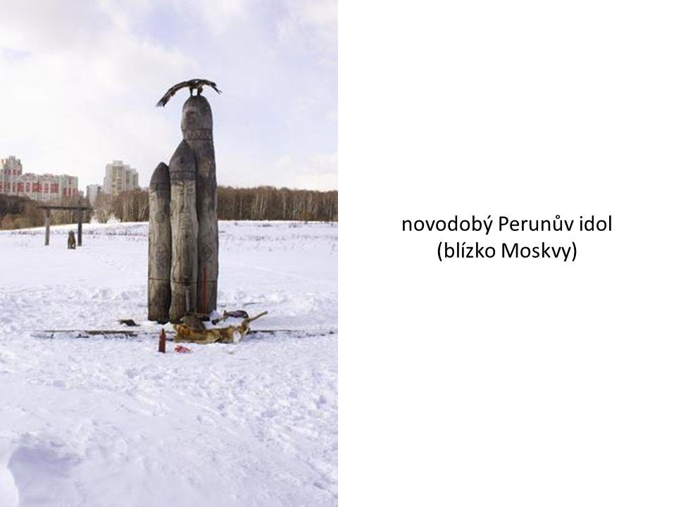 novodobý Perunův idol (blízko Moskvy)