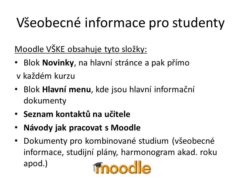 Všeobecné informace pro studenty