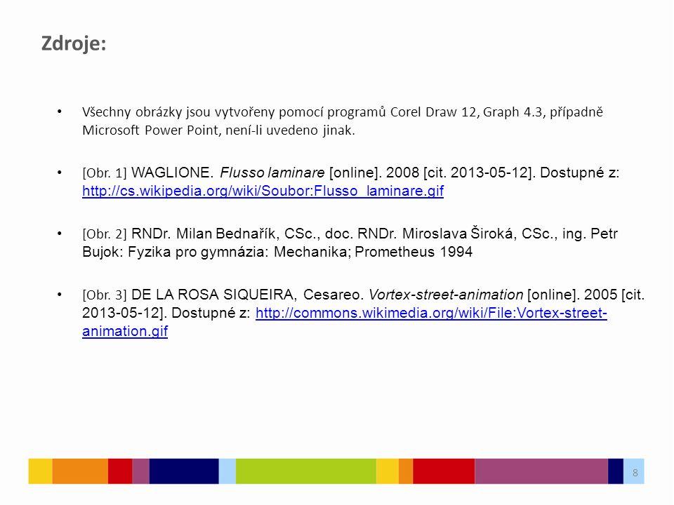 Zdroje: Všechny obrázky jsou vytvořeny pomocí programů Corel Draw 12, Graph 4.3, případně Microsoft Power Point, není-li uvedeno jinak.
