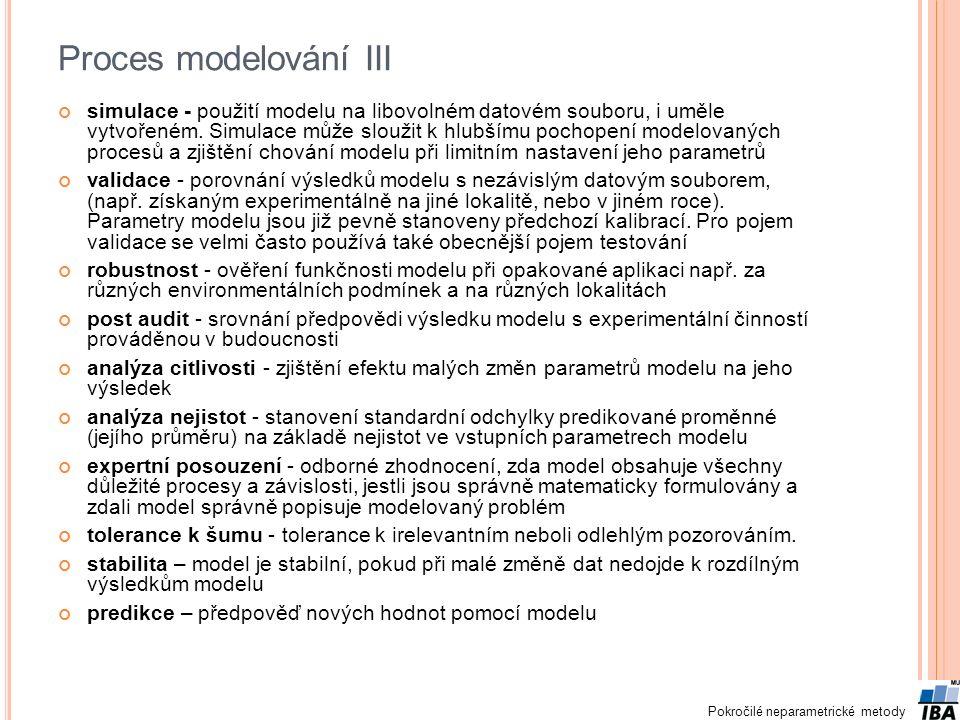 Proces modelování III