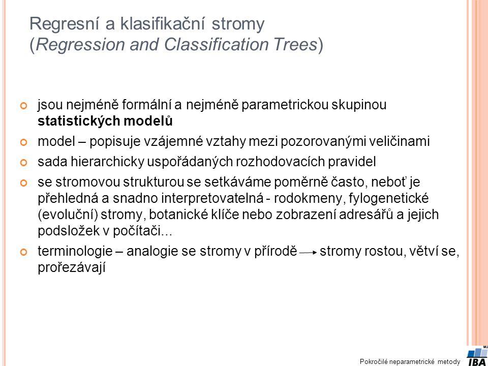 Regresní a klasifikační stromy (Regression and Classification Trees)