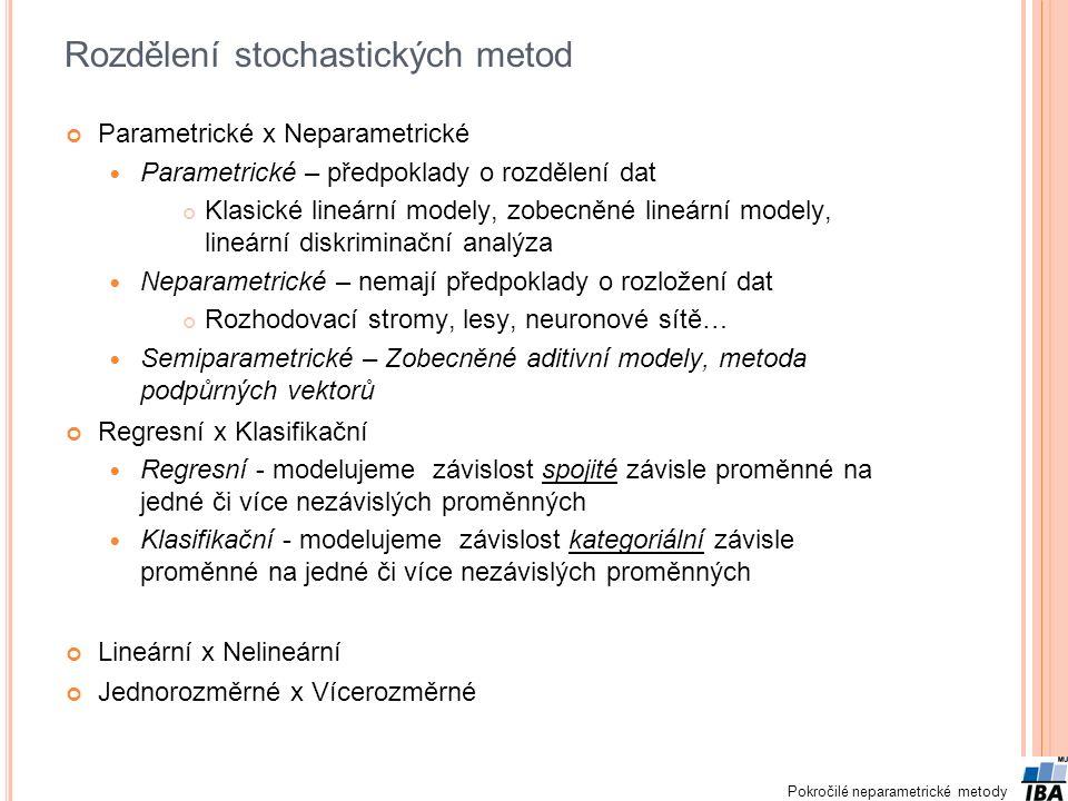 Rozdělení stochastických metod