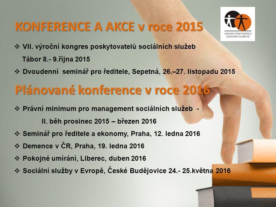 KONFERENCE A AKCE v roce 2015