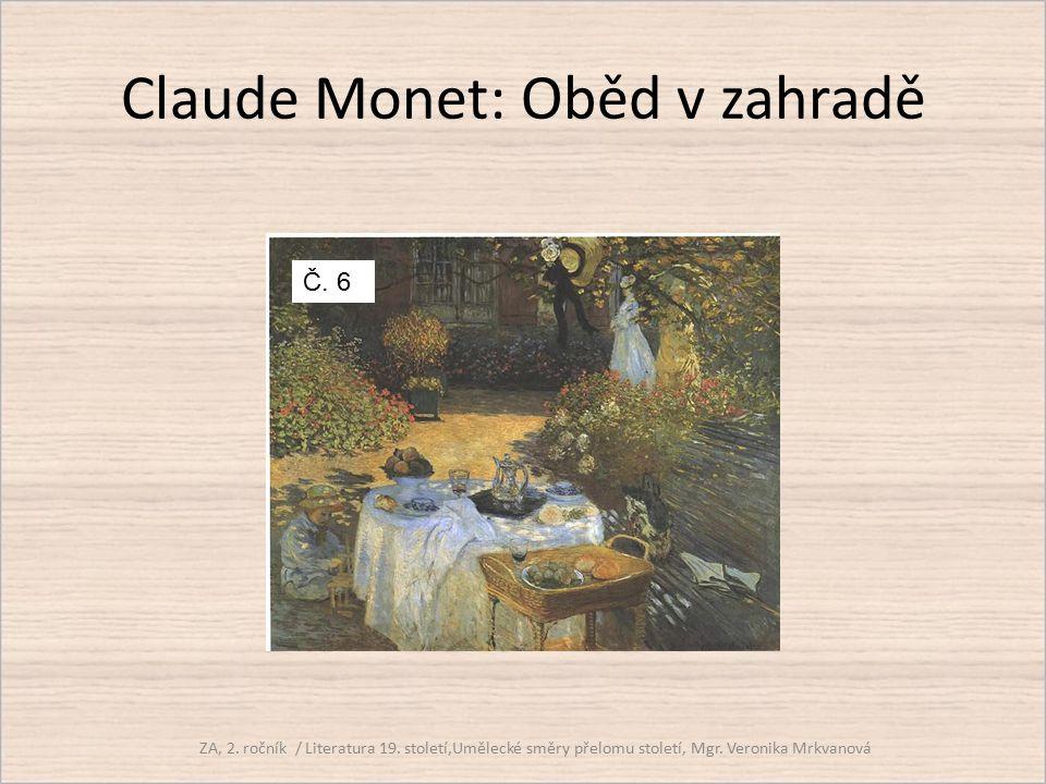 Claude Monet: Oběd v zahradě