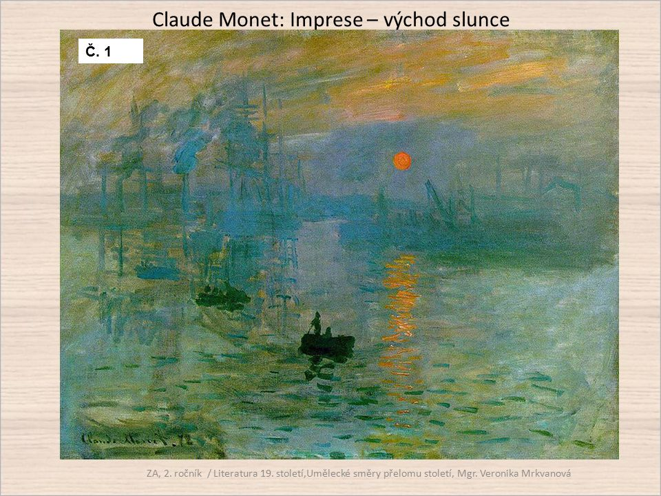 Claude Monet: Imprese – východ slunce