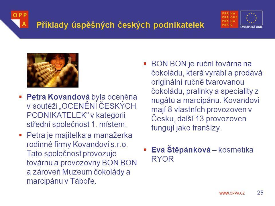 Příklady úspěšných českých podnikatelek