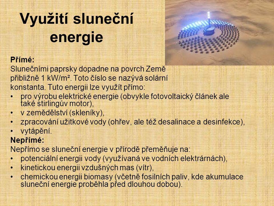 Využití sluneční energie