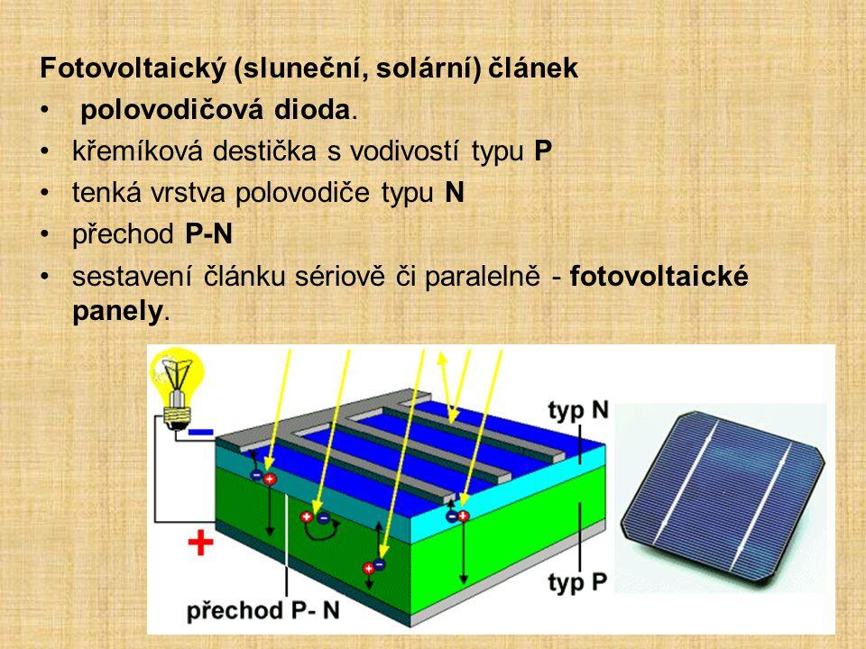 Fotovoltaický (sluneční, solární) článek