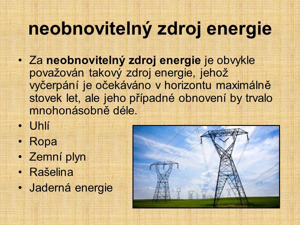 neobnovitelný zdroj energie