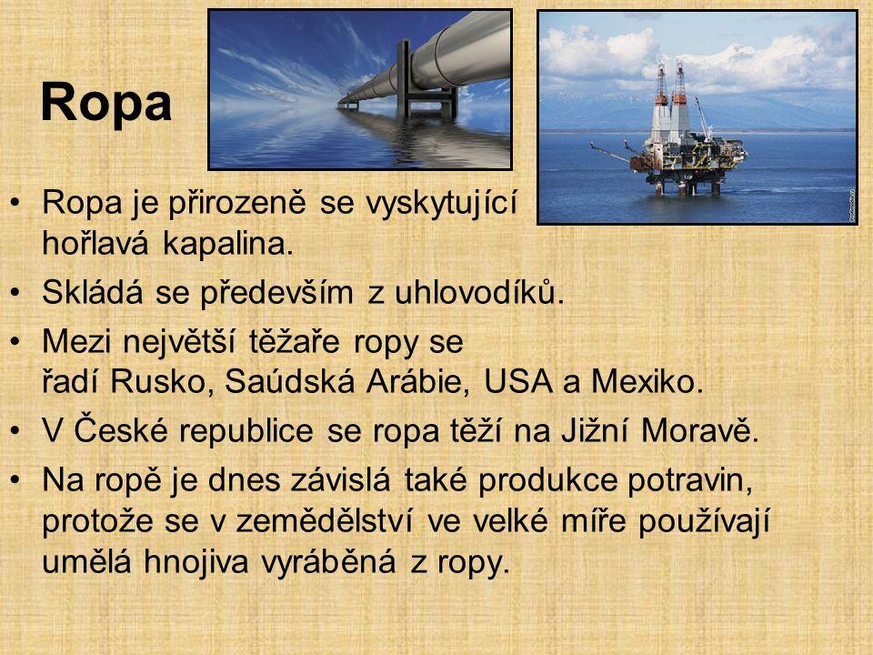 Ropa Ropa je přirozeně se vyskytující hořlavá kapalina.