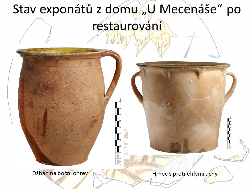 """Stav exponátů z domu """"U Mecenáše po restaurování"""