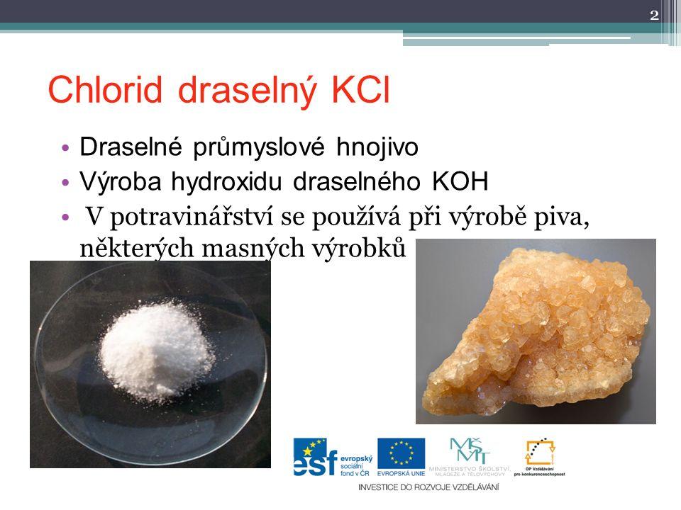 Chlorid draselný KCl Draselné průmyslové hnojivo