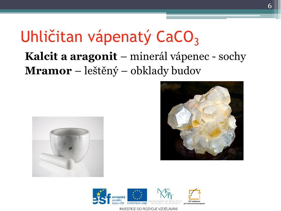Uhličitan vápenatý CaCO3