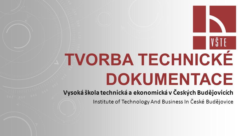 Tvorba technické dokumentace