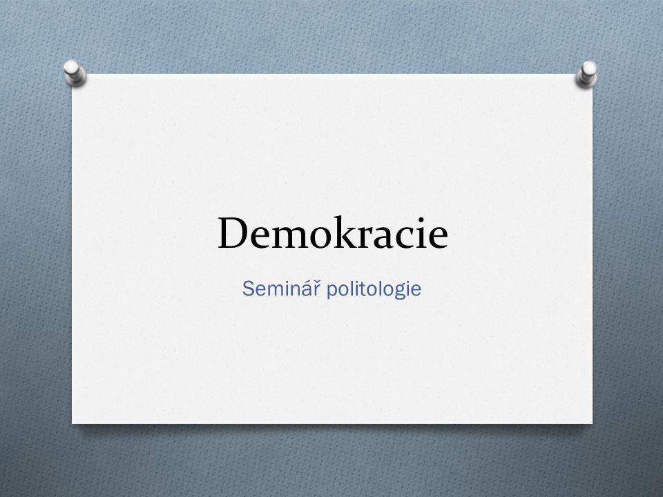 Demokracie Seminář politologie