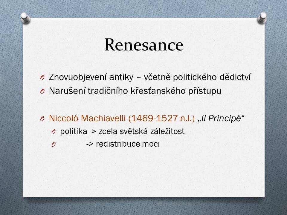 Renesance Znovuobjevení antiky – včetně politického dědictví