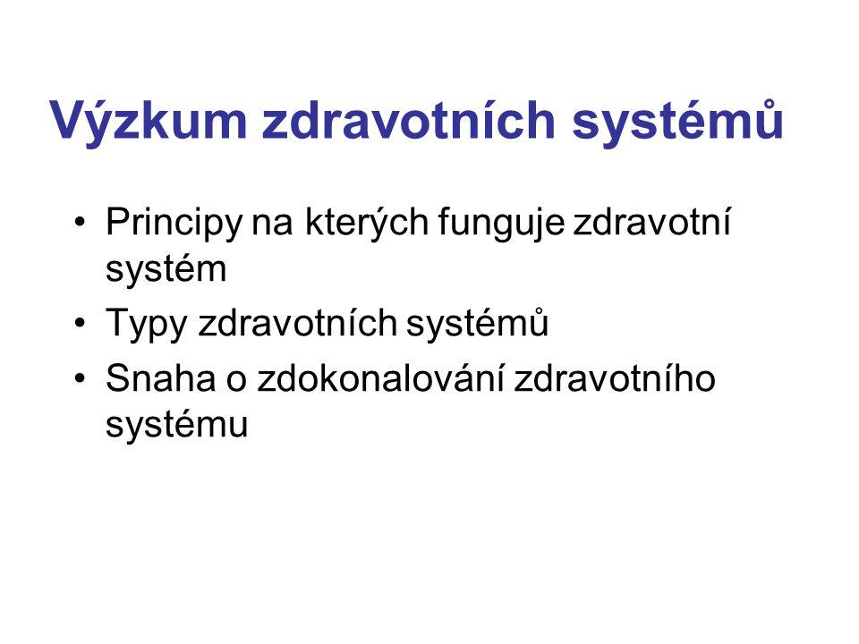 Výzkum zdravotních systémů