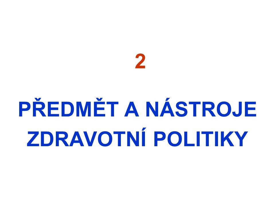 2 PŘEDMĚT A NÁSTROJE ZDRAVOTNÍ POLITIKY