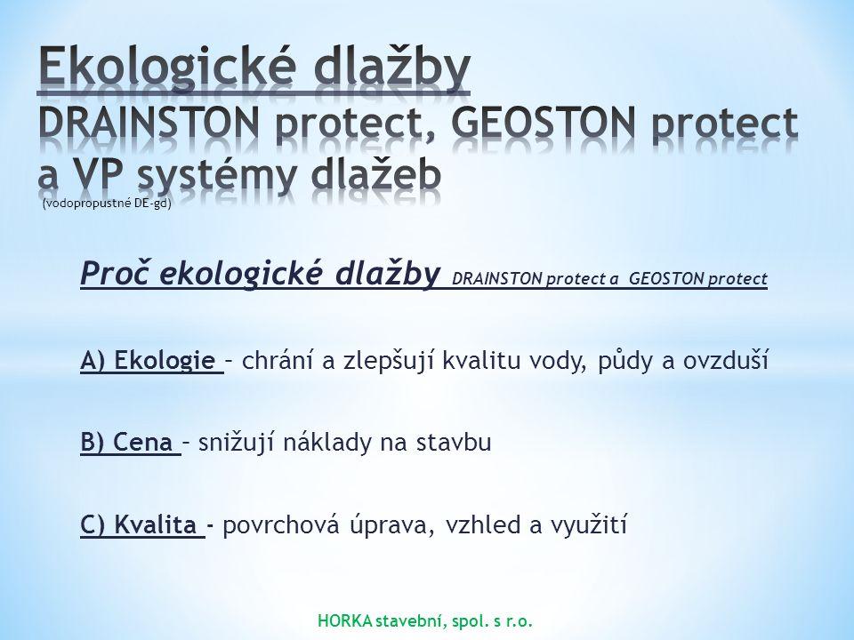 3. 3. 2015 Ekologické dlažby DRAINSTON protect, GEOSTON protect a VP systémy dlažeb. (vodopropustné DE-gd)