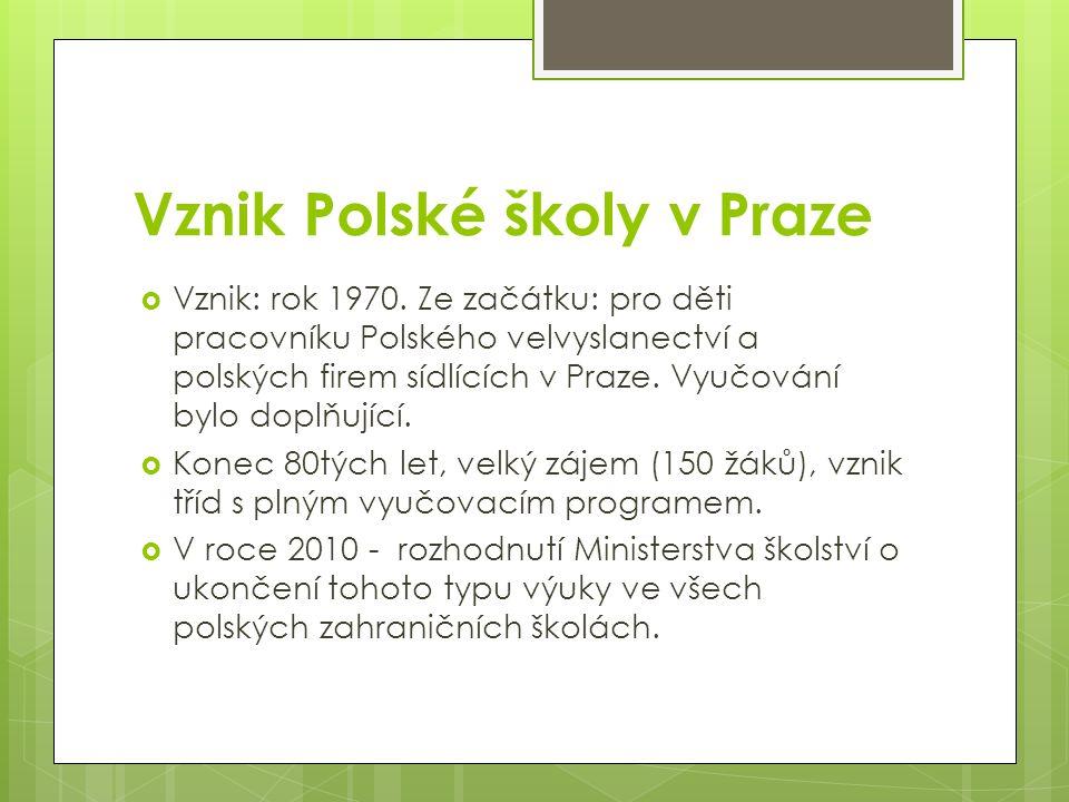 Vznik Polské školy v Praze