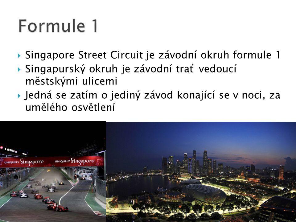 Formule 1 Singapore Street Circuit je závodní okruh formule 1