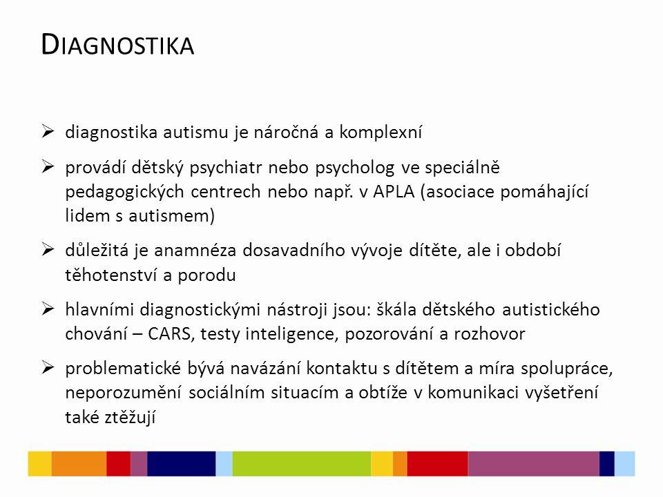Diagnostika diagnostika autismu je náročná a komplexní