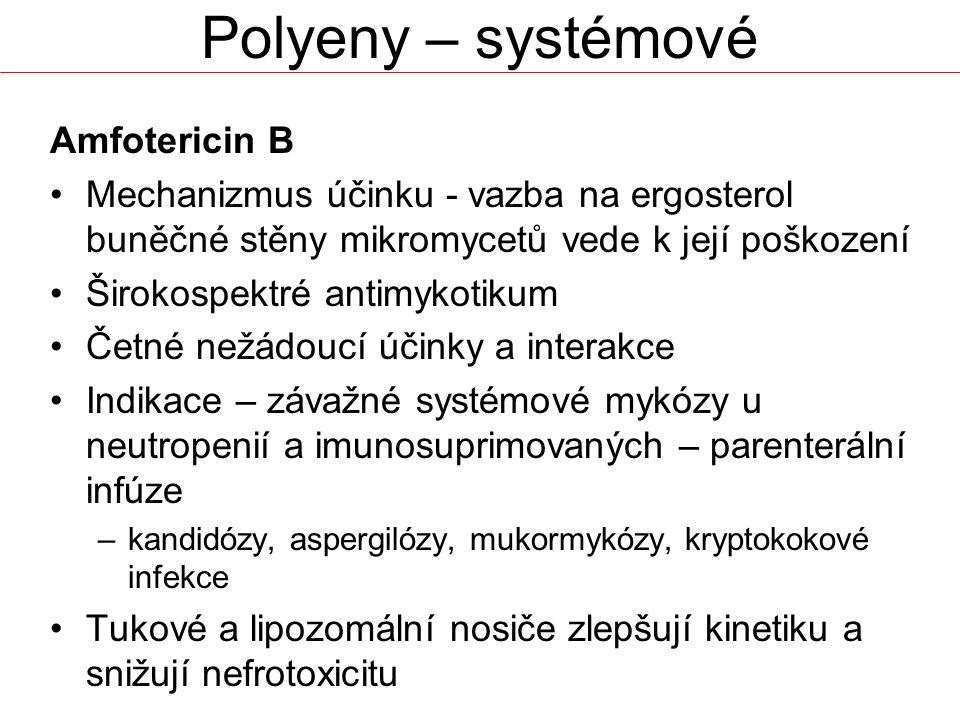 Polyeny – systémové Amfotericin B