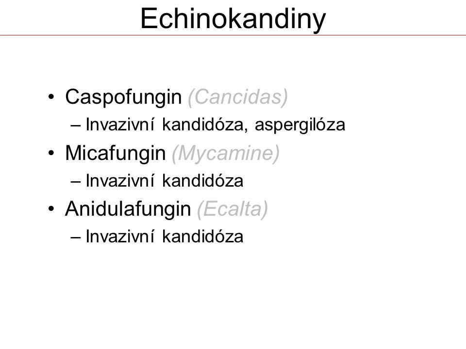Echinokandiny Caspofungin (Cancidas) Micafungin (Mycamine)
